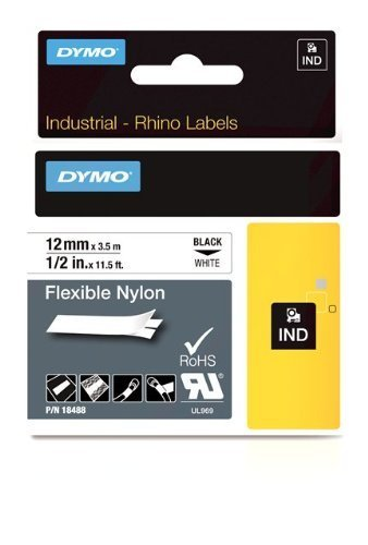 DYMO 1/2 Inch Flexible Industrial Strength Nylon Labels for Rhino 1000/3000 Label Printer (18488) by Portable & Gadgets