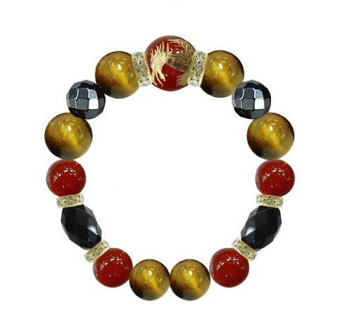 Carnelian Dragon - We dragon bracelet size M Carnelian / Tiger Eye (japan import)