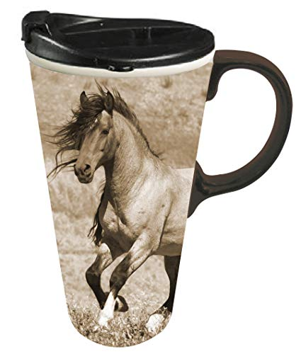 horse coffee cup with lid - 4