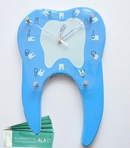 ALAN 歯の壁掛け時計 電波時計 掛け時計 掛時計 壁掛け時計 壁掛時計S4010-J B07C5PHBMS
