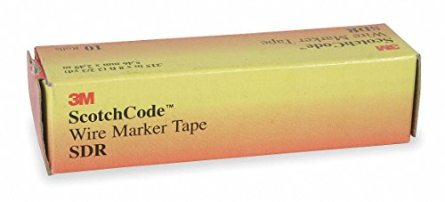 - 3M Red Wire Marker Tape Refill, No. of Labels: 5760 - pkg. of 10