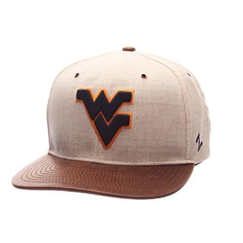- Zephyr NCAA West Virginia Mountaineers Adult Men's Havana Snapback Hat, Adjustable Size, Ivory/Dark Brown