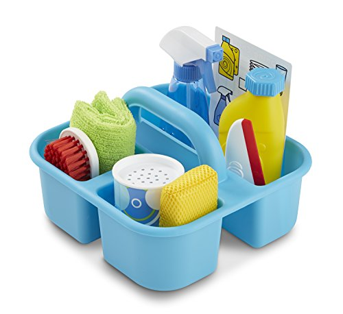 Melissa & Doug Spray, Squirt & Squeegee Play Set (Pretend Play Cleaning Set, Promotes Motor Skills, 8