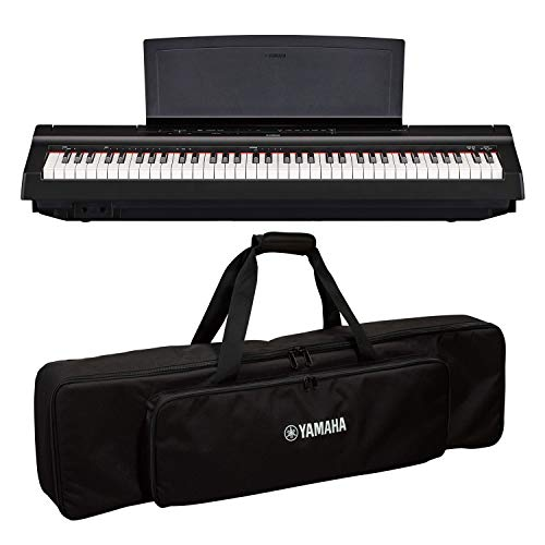 Yamaha P121B 73-Key Weighted Action Digital Piano with SC-KB750 Soft Case for P-121