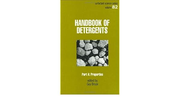 Handbook Of Detergents Pdf