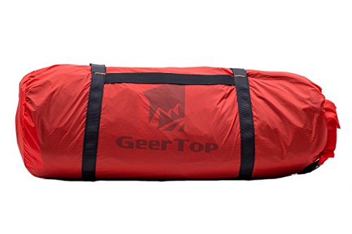 GEERTOP Ultralight 20D Waterproof Adjustable Tent Compression Bag Duffel Bag - for Camping Outdoor Sports (Red, for 2 to 3 Men Tent)