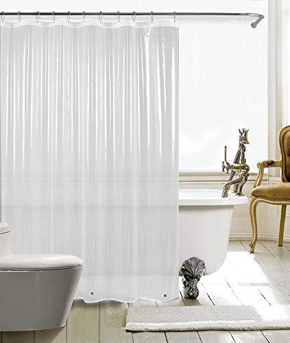 HARBOREST Shower Curtain Liner (72' x 72' Clear) - Waterproof 3-Gauge Lightweight for Bathroom Shower
