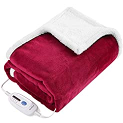 Electric Blanket Heated Throw Fast Heati...