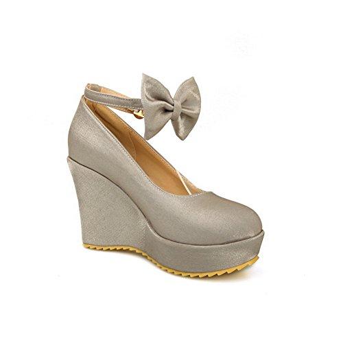 soie balamasa Boucle pumps avec nœud en shoes métal silver Femme 6ffYqw5R