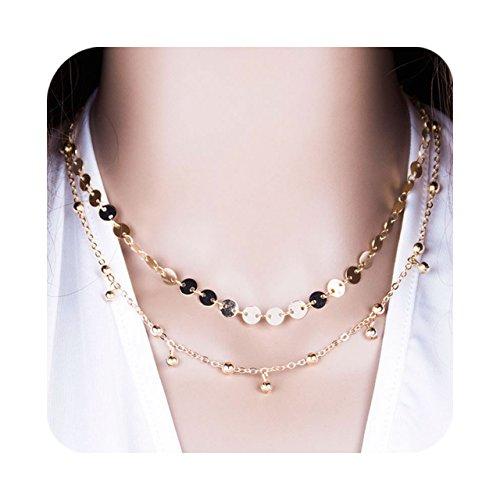 Zealmer Stunning Necklace Zirconia Sequins