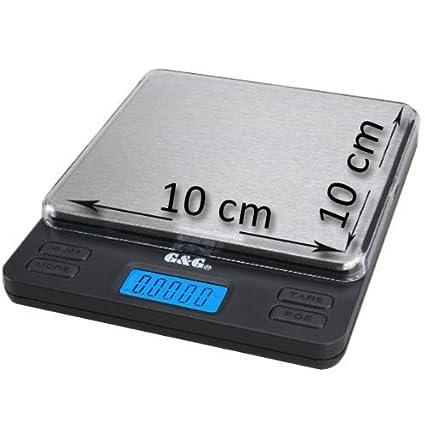 GundG Taschenwaage G&G - Báscula digital de precisión - Peso máximo: 1000 g/Granularidad