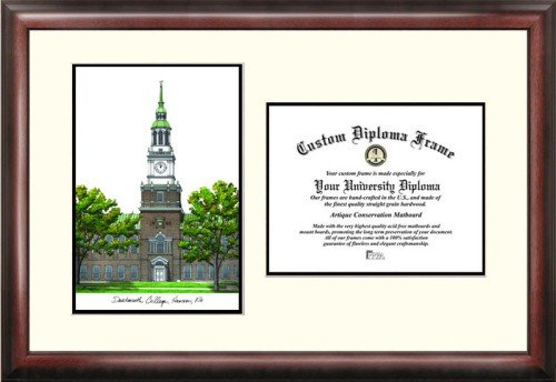 Dartmouth College Scholar Framed Lithograph with Diploma by Landmark Publishing