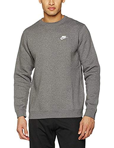 Nike Men's Sportswear Crew Charcoal Heather/White Size Small ()
