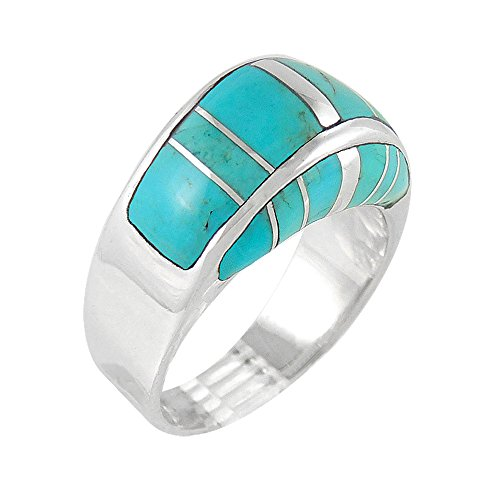 925-Sterling-Silver-Ring-with-Genuine-Turquoise-Sizes-6-to-11