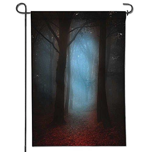 aolankaili Summer Garden Flag Double-sided,Dark autumnal for