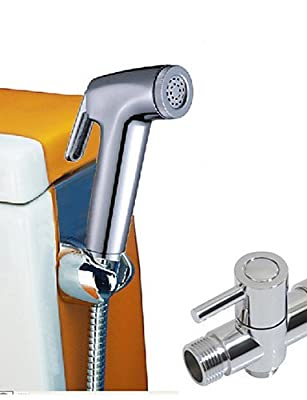 ZQ Personality Fashion Style Toilet Portable Plastic Shattaf Bidets Hand Held Bidet Shower With G7/8'' T-adaptor