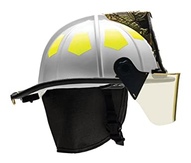 Fuego casco, color blanco, fibra de vidrio