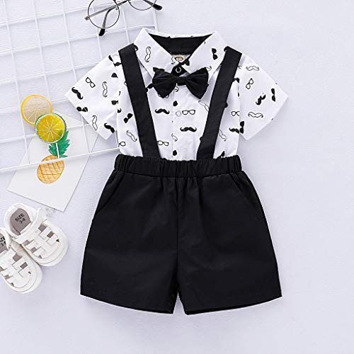 Amazon.com: Iuhan 2Pcs Outfits Infant Baby Boys Gentleman Beard ...