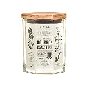 Makers of Wax Goods Large Richly Scented Candle Wood Wick -- Bourbon