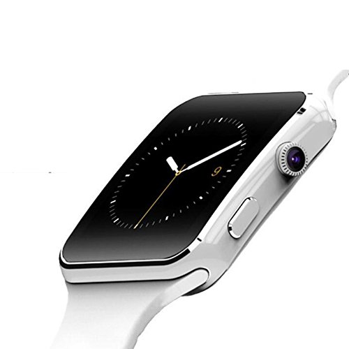 RONSHIN X6 Bluetooth Waterproof Smart Watch Smartwatch Camera for iOS Android Samsung White