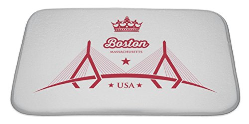 Bridge Micro Engineering (Gear New Memory Foam Bath Rug, Bridge Across The Charles River In Boston, 34x21, 6331882GN)