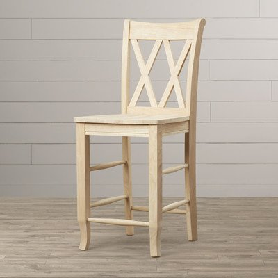 Barstool, Natural Seat Color, Square Seat Style Imogene 24