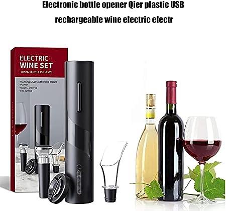 xiaofeng Abrelaje De Botella De Vino Eléctrico Sacacorchos Tinto Vino Automático con Cortador De Lámina Regalos para Amantes del Vino Accesorios De Cocina(Color:C)