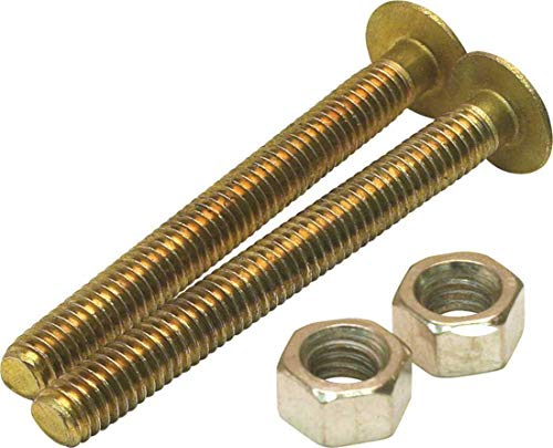 Proplus 2489472 1/4 in. x 2-1/4 in. Solid Brass Round Closet Bolt Pack of - Closet Solid Bolt Brass