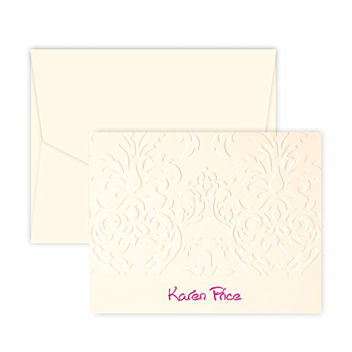 (Personalized Damask Note (Ivory))