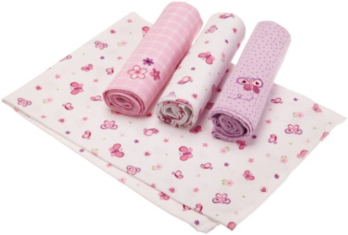 Just Born 4-Pack Flannel Receiving Blankets