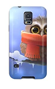 Slim Fit Tpu Protector Shock Absorbent Bumper Cute Owl Case For Galaxy S5