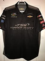 XL Turner Scott Racing Motorsports Nascar Race Used Truck Series Pit Crew Shirt Jersey 1/4 ZIP Race Used Simpson Racing Chevy Chevrolet