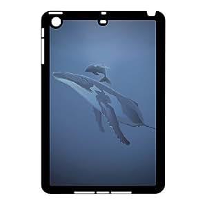 3D Cases For iPad Mini 2D, whale vector Cases For iPad Mini 2D, Tyquin Black