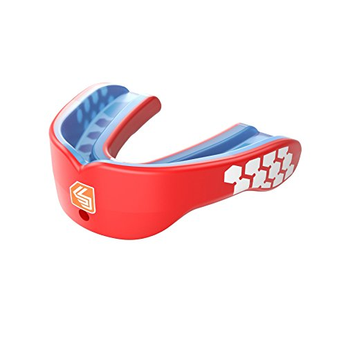 (Shock Doctor Gel Max Power Carbon Convertible Mouth Guard, Adult, Red)