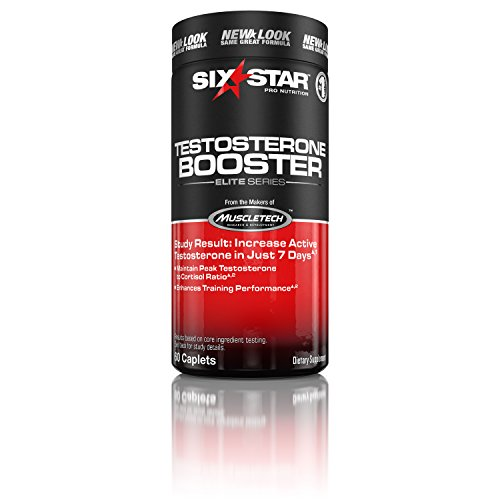Six Star Testosterone Booster Supplement, Extreme Strength, Enhances Training Performance, Scientifically Researched, Maintain Peak Testosterone, 60 Caplets (Regimen Caplets)