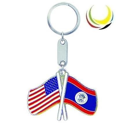 Amazon.com : Keychain USA-BELIZE FLAGS : Key Tags And Chains ...