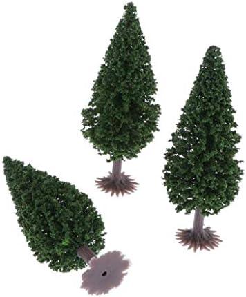 樹木 木 モデルツリー 3本 鉄道模型 ジオラマ 箱庭 鉄道風景 HO OOスケール 高さ10cm 装飾