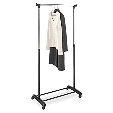 Whitmor Adjustable Clothes / Garment Rack, Black & Chrome