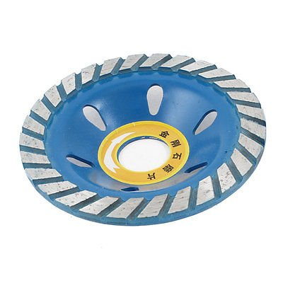 Anncus 100mm x 22mm Two Tone Diamond Coated Concave Grinding Wheel Disc