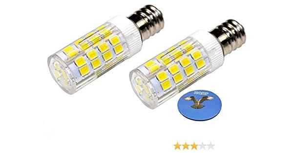HQRP 2-Pack E12 220 V LED bombilla luz blanca fría para Brother ...