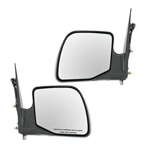 Power Mirrors Left LH & Right RH Pair Set for 94-06 Ford E350 Van E150 E250 (Mirror Econoline Van Power)