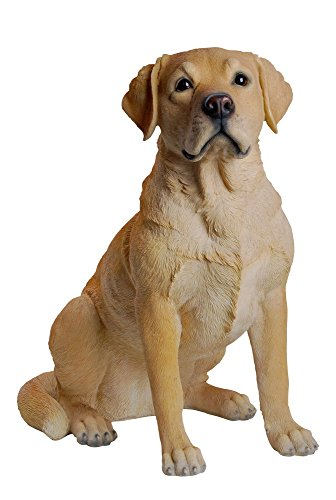 Hi-Line Gift Ltd Labrador Retreiver Sitting Statue, Yellow