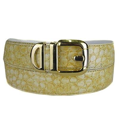 BLTBY-CRC-2 - Maize - Boys Crocodile Skin Bonded Leather Belt
