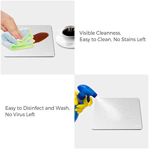 Metal Mouse Pad for Apple Magic Mouse 1&2, 2-Pack, Hard Silver Aluminum, Smooth, Thin, Fast & Precise Cursor Response… |