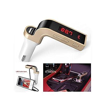 DZT1968 G7 Bluetooth Car Kit FM Transmitter Aux-in port MP3 Player USB Charger & AUX