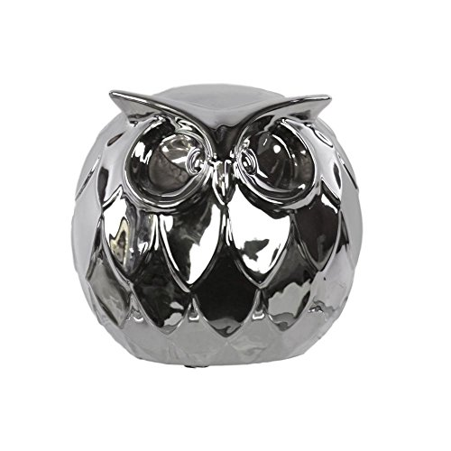 Urban Trends Ceramic Owl, Chrome from Urban Trends