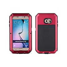 Samsung Galaxy S6 Aluminum Metal Case,[Military Heavy Duty]Extreme Waterproof Shock/Dust/Dirt/Snow Proof with Armoured Glass Protection Cover Case