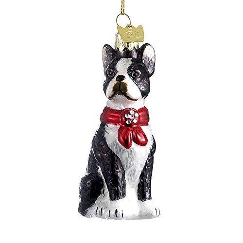 Terrier Glass Ornament - 2