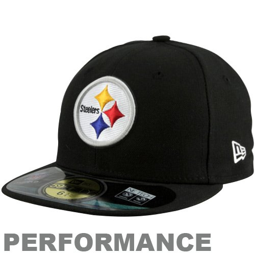 c9c026a4263536 Amazon.com : NFL Child Pittsburgh Steelers On Field 5950 Black Game Cap By  New Era : Sports Fan Baseball Caps : Clothing