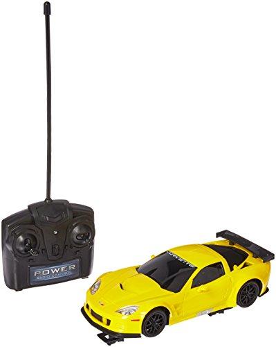 Braha Full Function Remote Control 1:24 Scale Corvette C6R- Yellow Corvett C6R, Yellow ()